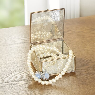Glass and Brass Box Size: 2 H x 3 W x 3 D