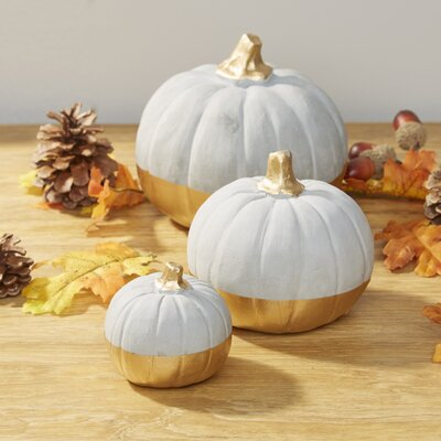 Birch Lane Dipped Pumpkin Decor