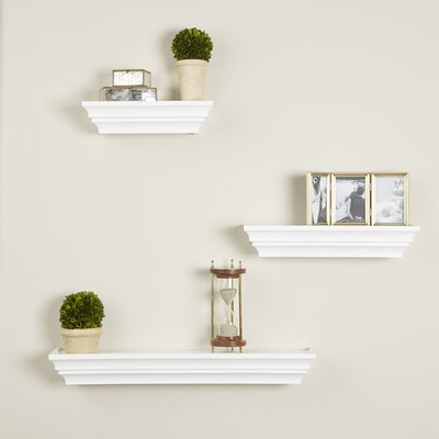 3 Piece Madison Wall Shelf Set Finish: White