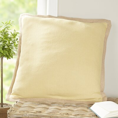 Shayna Jute Trim Pillow Cover Color: Sunlight