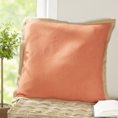 Shayna Jute Trim Pillow Cover Color: Ginger