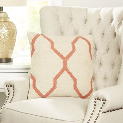 Becca Decorative Pillow Cover Color: Coral