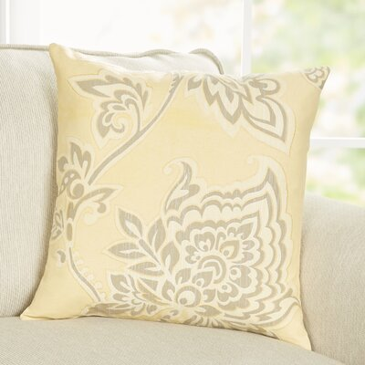 Penelope Pillow Cover Size: 18 x 18, Color: Yellow