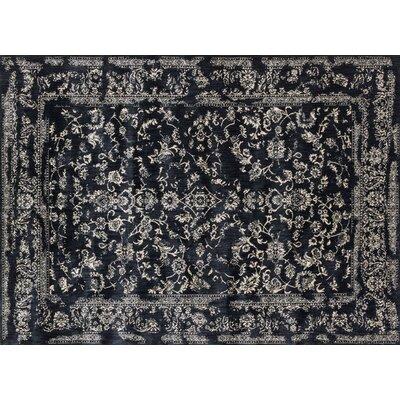 Regina Black & Ivory Rug Rug Size: Square 710