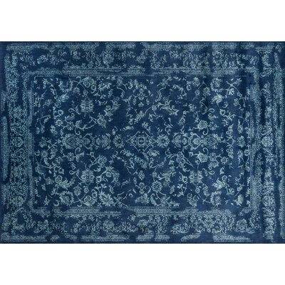 Regina Aqua & Navy Rug Rug Size: Rectangle 96 x 13