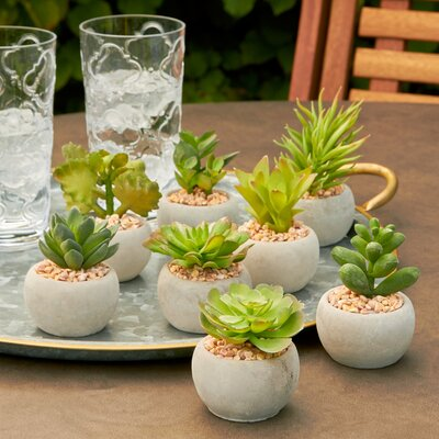 Faux Mini Potted Plants