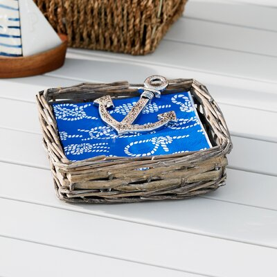 Willow Driftwood Napkin Basket