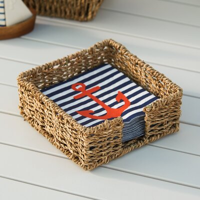 Seagrass Cocktail Napkin Caddy