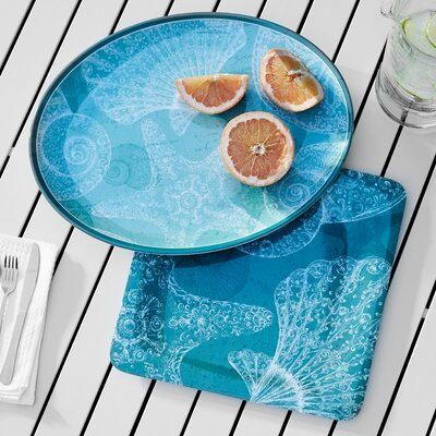 Seacoast 2 Piece Melamine Serving Platter Set