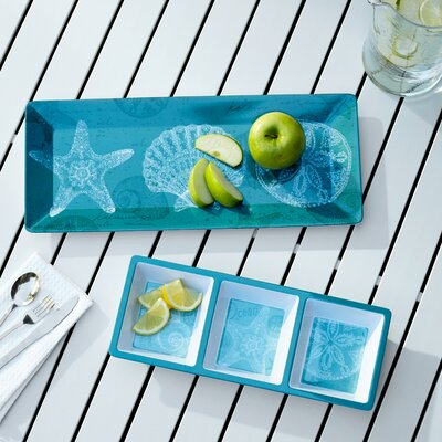 Seacoast 2 Piece Appetizer Melamine Set