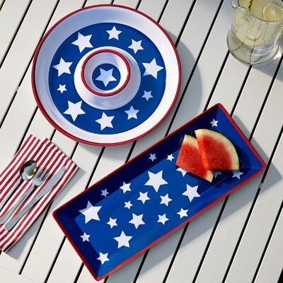 Yankee Doodle 2 Piece Appetizer Melamine Platter Set