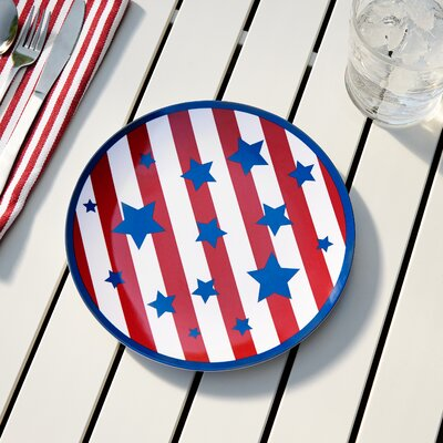 Yankee Doodle Melamine Salad Plate