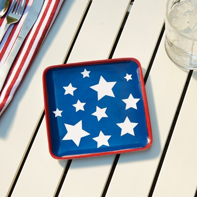 Yankee Doodle Canape Plate Melamine Charger Plate