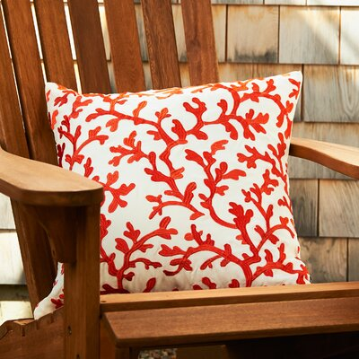 Covered in Coral Throw Pillow