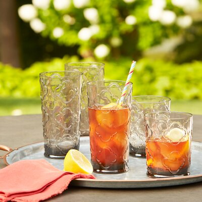 Riviera Plastic Water Glasses Color: Gray