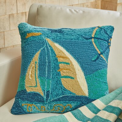 Set Sail Throw Pillow Color: Sea Green