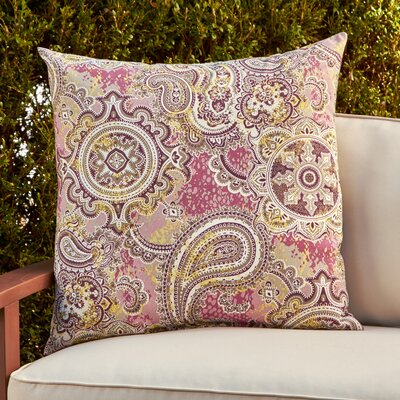 Kathleen Outdoor Throw Pillow Color: Purple/Gray