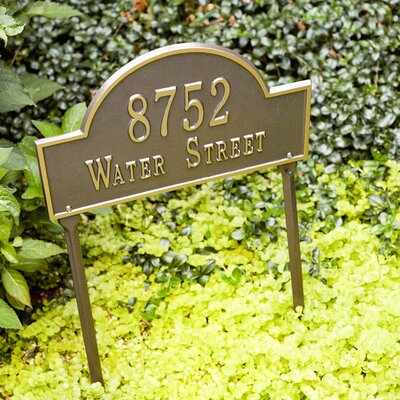 Water Street Address Plaque Font Color: Antique Copper