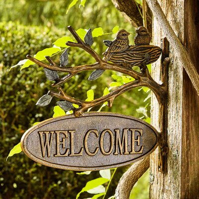 Lovebirds Welcome Sign
