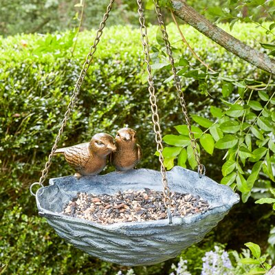 Nestling Decorative Tray Bird Feeder