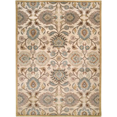 Phoebe Parchment & Teal Rug Rug Size: Rectangle 10 x 14