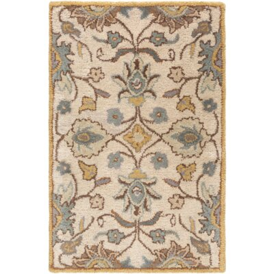 Phoebe Parchment & Teal Rug Rug Size: Rectangle 2 x 3