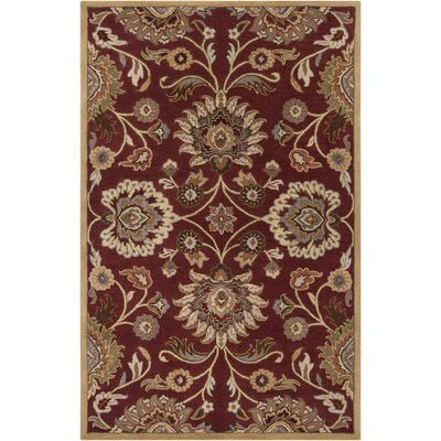 Phoebe Brick Tufted Wool Area Rug Rug Size: Round 99