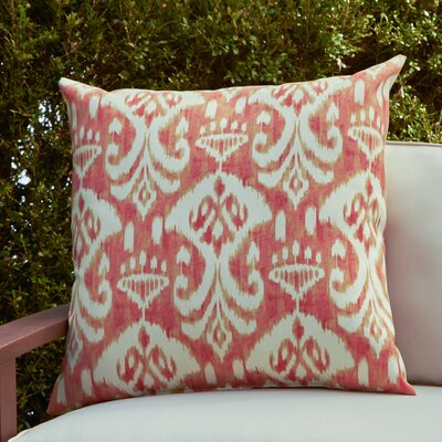 Cecily Outdoor Pillow Color: Rivali Coral