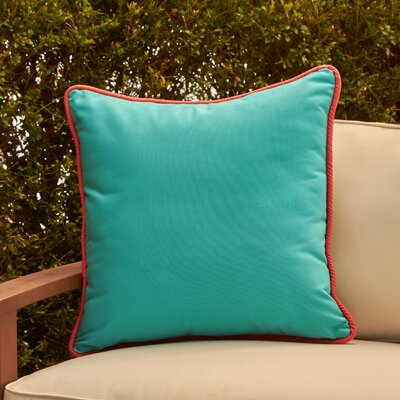 Ranya Outdoor Pillow Color: Aqua/Turquoise