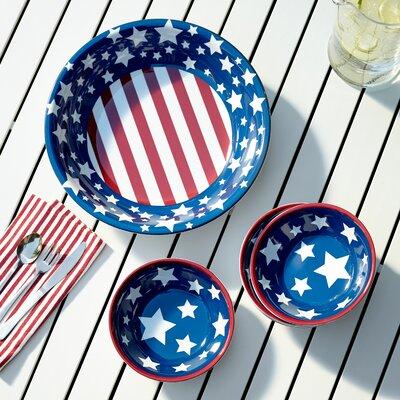 Yankee Doodle 5 Piece Melamine Salad Serving Set