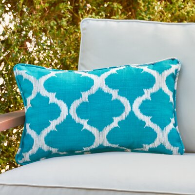 Avalon Rectangle Outdoor Pillow Color: Teal, Size: 11.5 H x 18.5 W