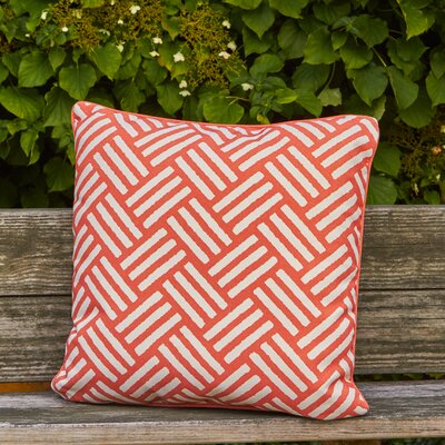 Abilene Outdoor Pillow Size: 20 H x 20 W x 4 D, Color: Orange
