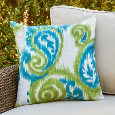 Esmeralda Outdoor Pillow Color: Teal