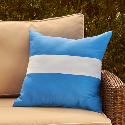 Addie Outdoor Pillow Color: Azure, Size: 18 H x 18 W x 1 D