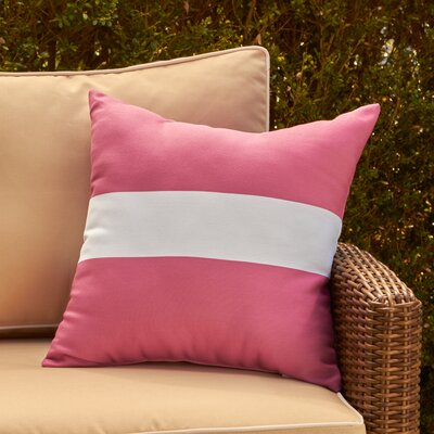 Addie Outdoor Pillow Color: Pink Cheeks, Size: 16 H x 16 W x 1 D