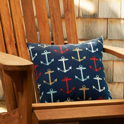 Anchors Away Throw Pillow Color: Navy