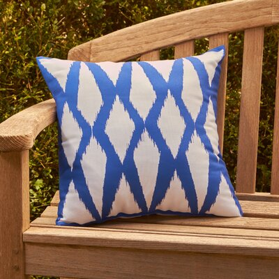 Blasingame Geometric Decorative Outdoor Pillow Color: Spring Navy, Size: 16 H x 16 W x 1 D