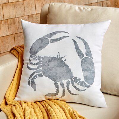 Crab Walk Outdoor Pillow Size: 18 H x 18 W, Color: Gray