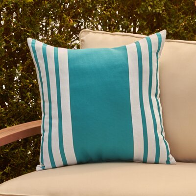 Jada Outdoor Pillow Color: Lake Blue, Size: 20 H x 20 W x 1 D