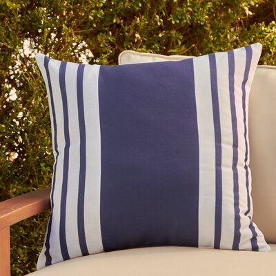 Jada Outdoor Pillow Color: Spring Navy, Size: 18 H x 18 W x 1 D