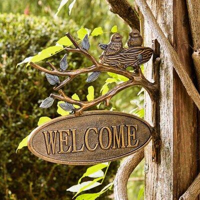 Bird's Nest Welcome Sign