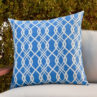 Monica Outdoor Pillow Color: Blue