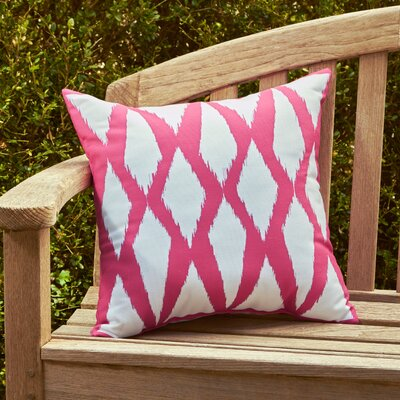 Zarina Outdoor Pillow Color: Fushia, Size: 16 H x 16 W x 1 D