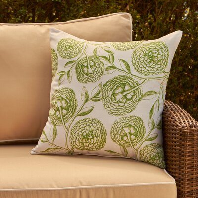 Esther Outdoor Pillow Size: 18 H x 18 W, Color: Green