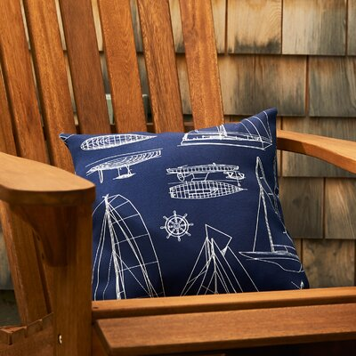 Sailing Throw Pillow Color: Navy