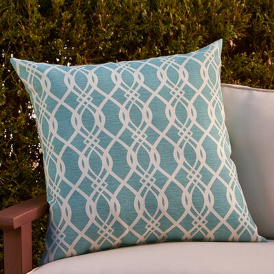 Monica Outdoor Pillow Color: Aqua