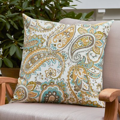 Cornelia Outdoor Pillow Color: Yellow / White