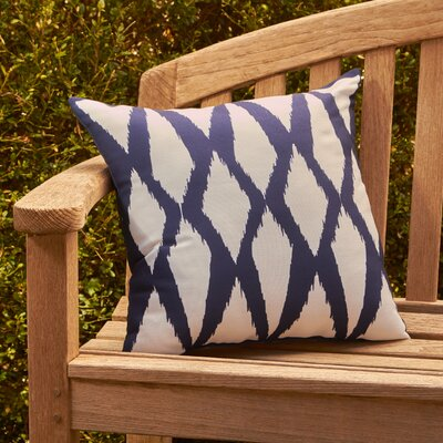 Zarina Outdoor Pillow Color: Spring Navy, Size: 16