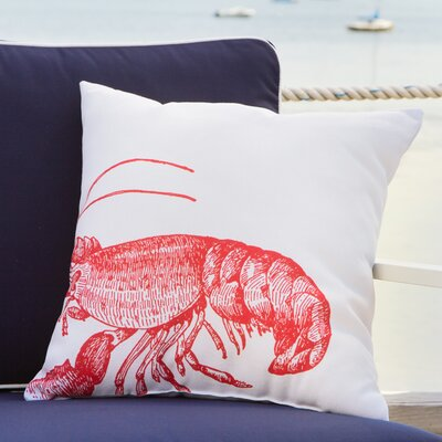 Red Lobster Outdoor Pillow Size: 18 W x 18 D