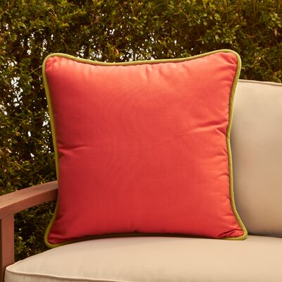 Ranya Outdoor Pillow Color: Coral/Navy